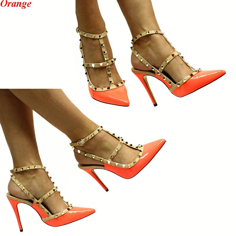 Damenschuhe Elegante Luxus Party Pumps Sandaletten High Heels mit Nieten