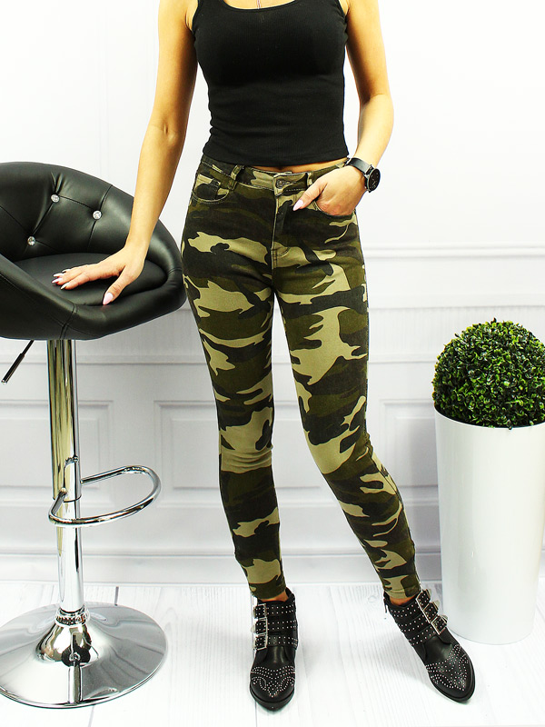 damen jeans hose camouflage army milit r stretch ebay. Black Bedroom Furniture Sets. Home Design Ideas
